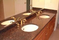 Table-tops for a bathroom from granite