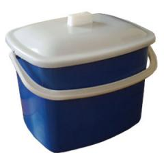 Buckets are plastic rectangular