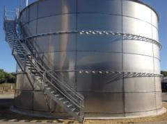 Fuel and lube storage tanks