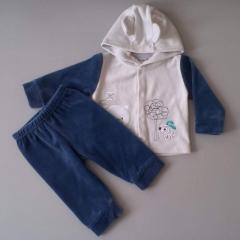 Детский костюм, с ушками на капюшоне модель 16