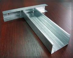 Profile for gypsum cardboard from galvanized steel