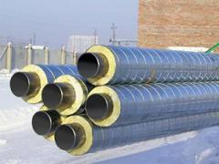 Thermal insulation for pipes, steam a wire, gas a
