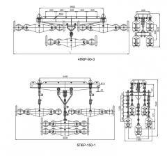 Подвес многороликовый типа 5П6Р, 4П6Р