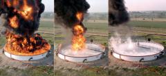 Fire extinguishing substances of isolation