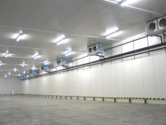Construction of refrigerating warehouses