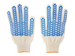 Gloves five-fingered with PVC