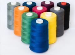 Полиэстеровые швейные нитки