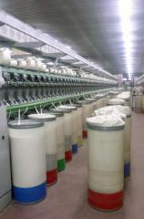 Yarn from cotton