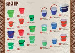 Buckets plastic in assortmen
