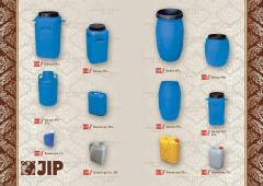 Barrels, canisters, tanks, cans plastic