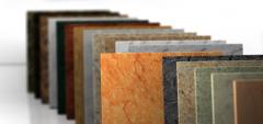 Marble and granite slabs