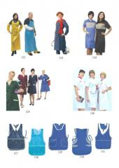Dressing gowns and aprons for workers