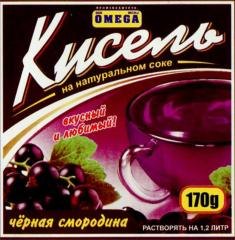 Kissel Bilberry on natural juice