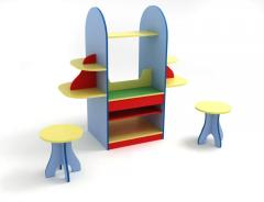 Preschool furniture. A table with stools