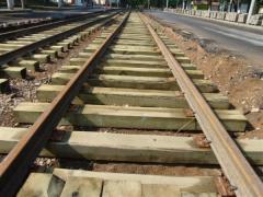 Деревянные шпалы железнодорожные