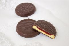 Печенье Roundy сахарное с мармеладом в глазури