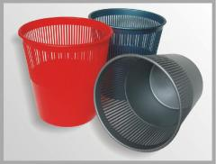 Wastepaper baskets are plastic