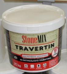 Liquid plaster from natural Travertine
