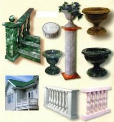 Products from marble