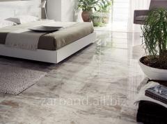 Tile floor marbled