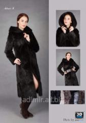Women's fur coat from a nutria Arth. Sh011
