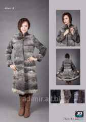 Fur coat female their furs of astrakhan fur Arth.