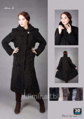 Fur coat female of astrakhan fur Arth. Sh022