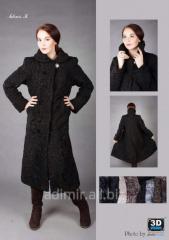 Fur coat female of astrakhan fur Arth. Sh022