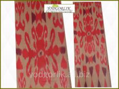 Fabric with the Uzbek prin