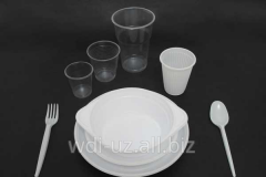 Line of production of disposable tableware