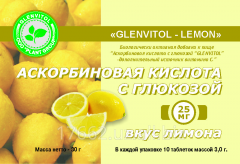 Ascorbic acid with glucose with taste of a lemon