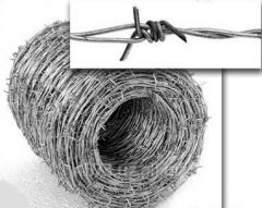 Barbed bibasic galvanized wire
