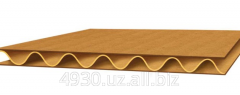 The corrugated cardboard is three-layered