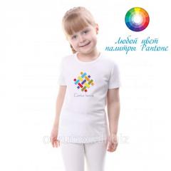 Girl's undershirt 155 of g/m2 of 100% x /