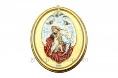 Wall panel from porcelain the Madonna with Jesus
