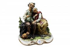 Figurine from porcelain Gentle Lyubov Artikul 113