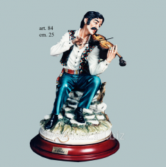 Porcelain figure article 84 - The Gipsy playing a