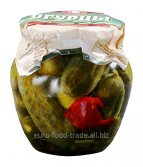 Cucumber pickles, steklobanka of 550 ml.