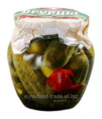 Cucumber pickles, steklobanka of 550 ml.