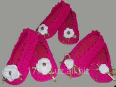 Knitted house-shoes handwork - Knitted slippers