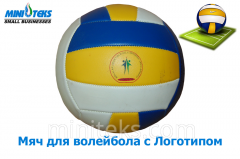 Volleyball with a logo in Uzbekistan