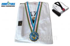 Uniform for fight of karate in Uzbekistan