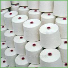 Cotton (100%) koltsopryadilny combed yarn, knitted