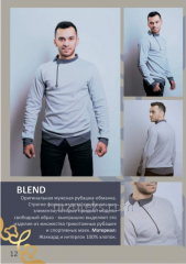 Men's shirt BLEND blende (Jacquard, interlok