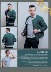Jacket man's BOMBER (footer with pile)