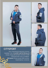 Sports set for men of CITYSPORT (footer with pile