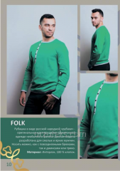 Shirt knitted man's FOLK (interlok of 100%