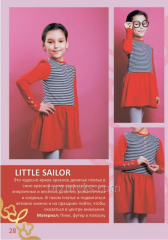 Dress for girls of LITTLE SAILOR (dive, footer in
