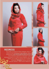 Set female REDRESS (footer with pile red, melange,