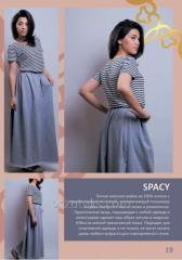 Undershirt female in SPACY strip (100% cotton)